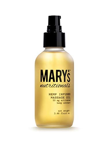 Mary's Nutritional Hemp infused Massage Oil Hydrate Skin 50mg