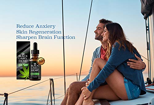 Couple with Black Label Hemp Oil Extract Improve Nerve Health Better Metabolism
