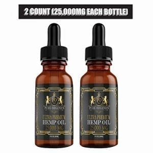 25,000 MG hemp oils dropper