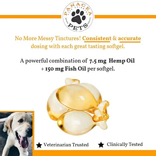 dosing PANACEA PETS CANINE Organic Hemp & Fish Oil Infused Softgel