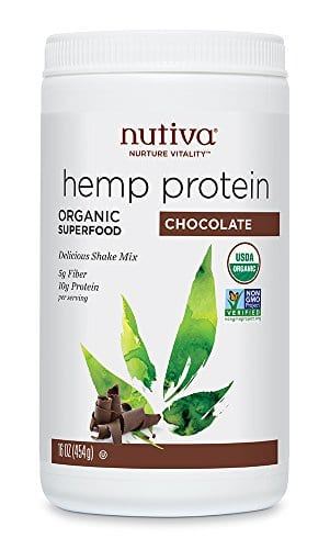 image od Nutiva Organic Cold-Processed Hemp Chocolate Protein Powder