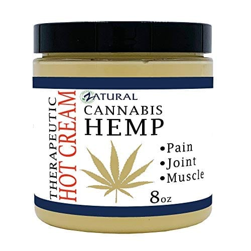 Zatural Cannabis Hemp Oil Organic Therapeutic Hot Cream