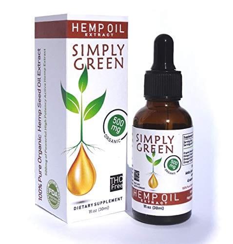 Simply Green Hemp Oil Extract Organic Liquid Hemp Seed Drops