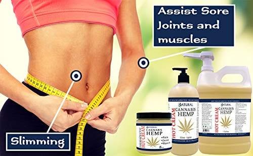 Measure with Zatural Cannabis Hemp Oil Organic Therapeutic Hot Cream