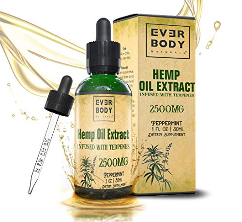 Everybody Naturals Hemp Oil Extract Drops Peppermint Flavor product