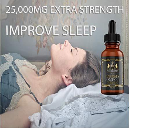 Sleep With Pure Organics 25,000 MG Organic Hemp Oil Hemp Extract Supplement
