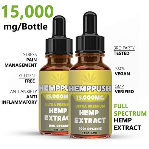 benefits of Hemppush Organic Hemp Oil Best Herbal Supplement Oil Drops