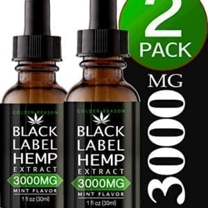 Black Label Hemp Oil Extract Improve Nerve Health & Metabolism
