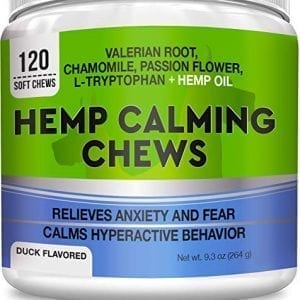 Pets Primal Natural Calming Hemp Dog Treats Duck Flavored