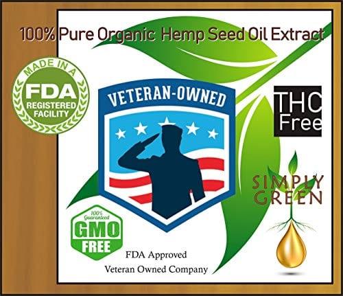 VA Simply Green Hemp Oil Extract Organic Liquid Hemp Seed Drops