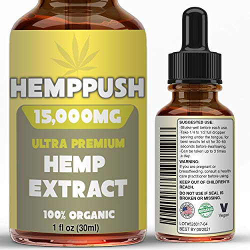 Hemppush Organic Hemp Oil Best Herbal Supplement Oil Drops