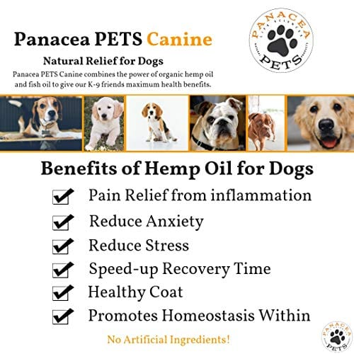 anxiety relief PANACEA PETS CANINE Organic Hemp & Fish Oil Infused Softgel