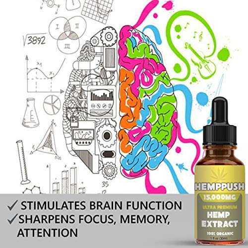 Brain function Hemppush Organic Hemp Oil Best Herbal Supplement Oil Drops