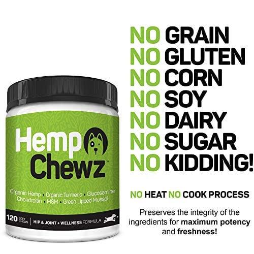 Ingredients of Hemp Chewz Hip - Joint Care 100% Organic Hemp Oil Dog Treats