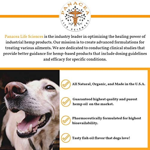 organic PANACEA PETS CANINE Organic Hemp & Fish Oil Infused Softgel
