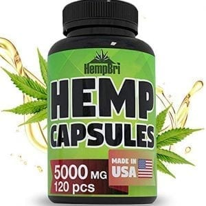 HempBri Premium Hemp Oil Pure Natural Organic Extract Capsules