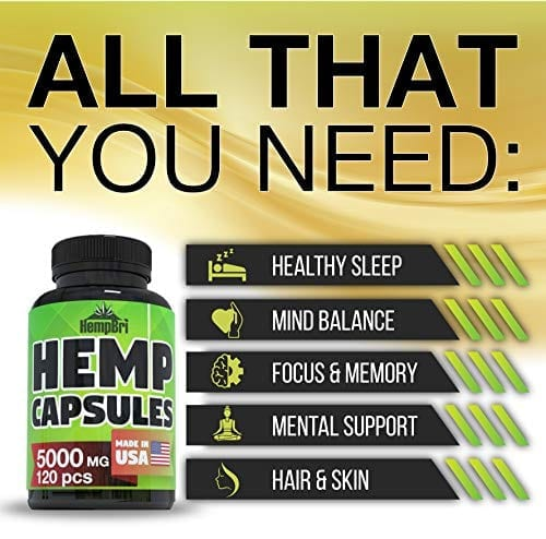 description of HempBri Premium Hemp Oil Pure Natural Organic Extract Capsules