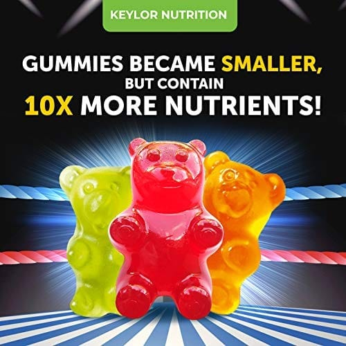 3 gummies Keylor Nutrition All-Natural Hemp Oil Gummies CO2 Extraction