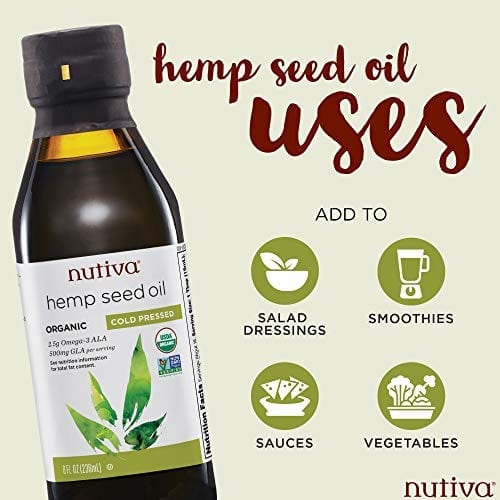 Uses of Nutiva Organic Cold-Pressed Unrefined Canadian Hemp Seed Oil