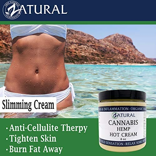 Slimming with Zatural Cannabis Hemp Oil Organic Therapeutic Hot Cream