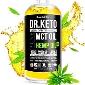 Dr. Keto MCT Oil Hemp Extract Cold Pressed Vegan Friendly