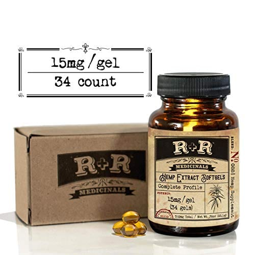 R+R Medicinal's Hemp Oil 500mg Softgel Capsules (30-Day Supply)