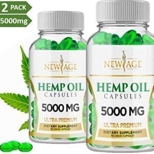 New Age 2 Pk Hemp Oil Pain Stress Anxiety Relief Sleep Capsules