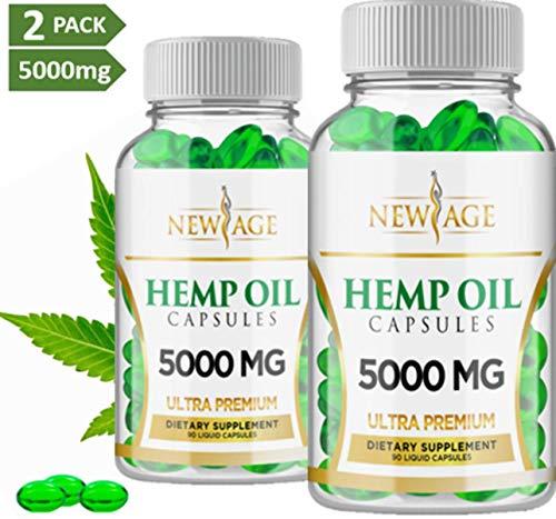 New Age 2 Pk Hemp Oil Pain Stress Anxiety Relief Sleep Capsules