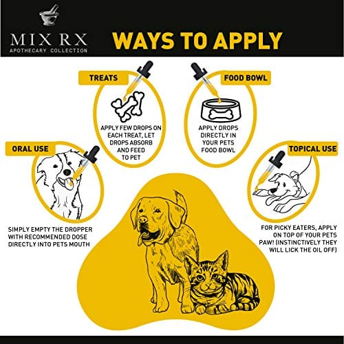 applications of Mix Rx Pet Hemp Oil treats - Organic Anxiety Itchy Skin Relief