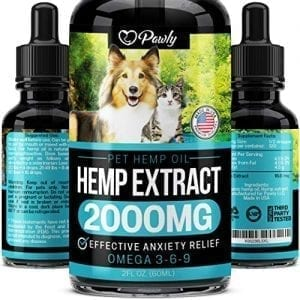 Pawly Hemp Oil Anxiety Relief Dogs Cats Premium Pet Treats