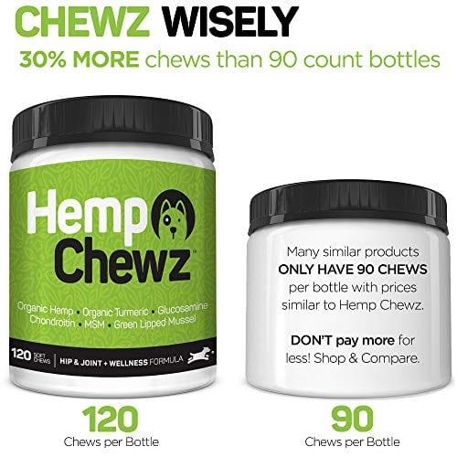 an of Hemp Chewz Hip - Joint Care 100% Organic Hemp Oil Dog Treats