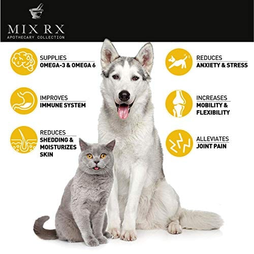 pets with Mix Rx Pet Hemp Oil treats - Organic Anxiety Itchy Skin Relief