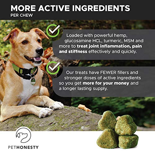 active ingredients of PetHonesty Glucosamine Turmeric Hemp Supplement for Dogs