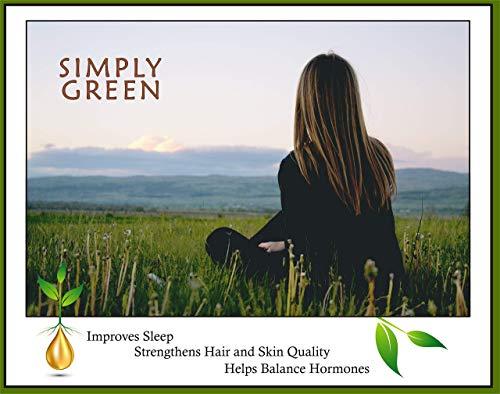 Woman with Simply Green Hemp Oil Extract Organic Liquid Hemp Seed Drops