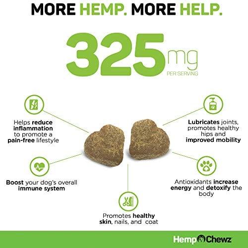 Hemp Chewz Hip - Joint Care 100% Organic Hemp Oil Dog Treats nuggets