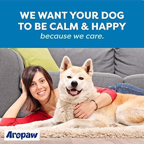calm dog with AroPaw 100% Organic Hemp Oil Dog Anxiety Calming Treats for Dogs