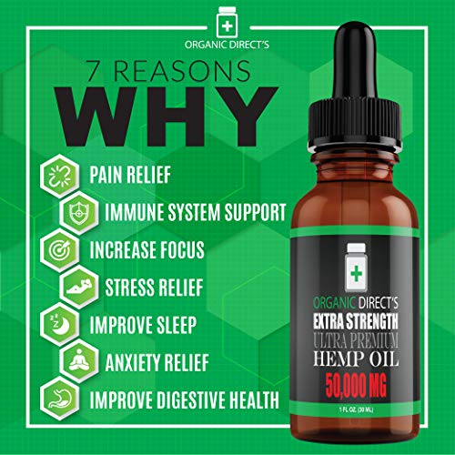 benefits of Organic Directs Hemp Oil Organic Hemp Extract Supplement Drops