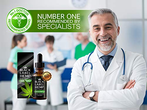 Doctor with Black Label Hemp Oil Extract Improve Nerve Health Better Metabolism