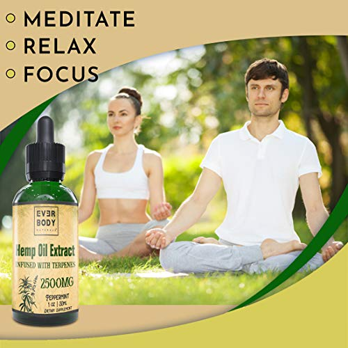 yoga with Ever Body Naturals Hemp Oil Extract Drops Peppermint Flavor