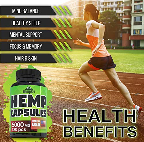 running with HempBri Premium Hemp Oil Pure Natural Organic Extract Capsules