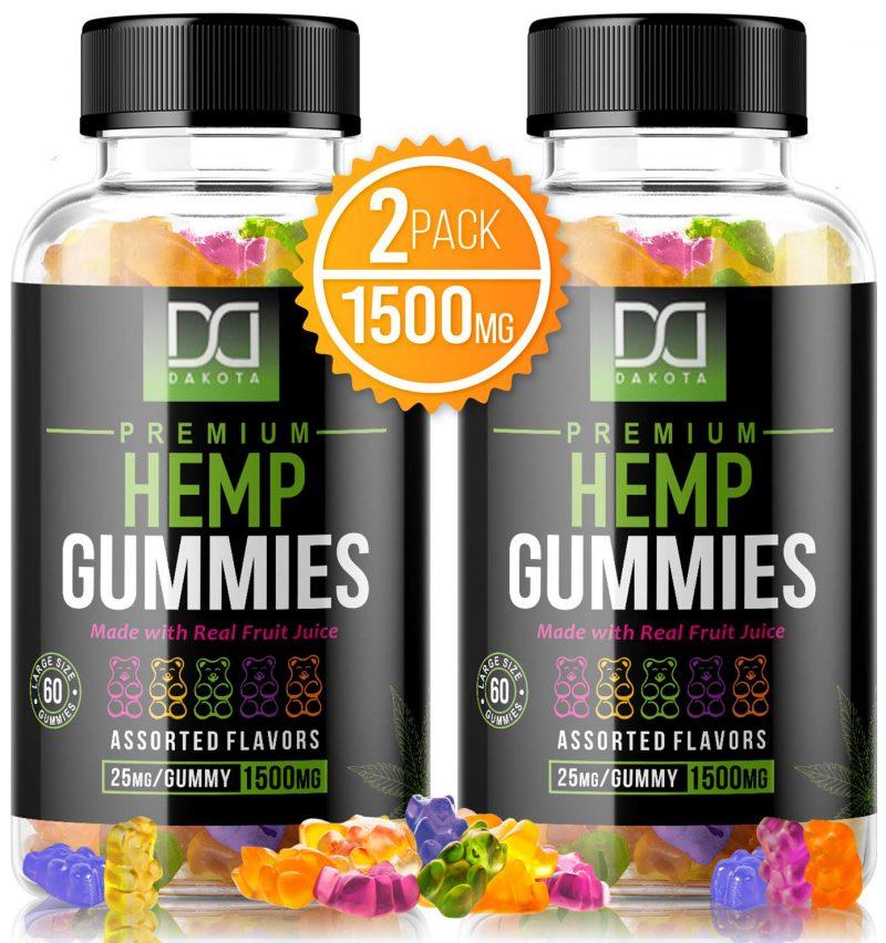 Mix RX 1500mg Hemp Gummies Pain Anxiety Restful Sleep Natural Calm