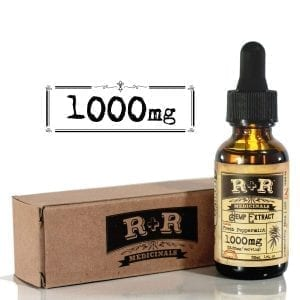 R&R Medicinal Hemp Oil 1000mg Pain Stress Relief Mood Support