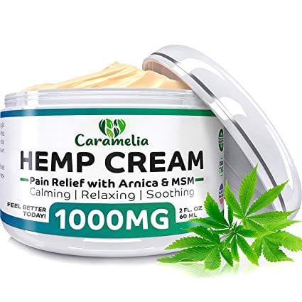 Caramelia Hemp Extract Cream 1000Mg Natural Pain Relief Relaxation