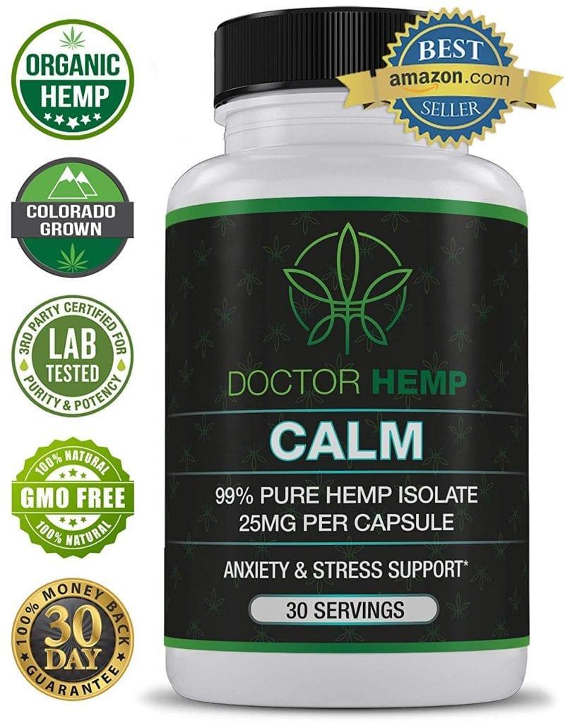 Calm Hemp Oils Vitamins Supplements Pain Relief Anxiety Better Sleep