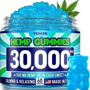 Froozie Calming Hemp Coconut Gummies Natural Alternative 500 MG