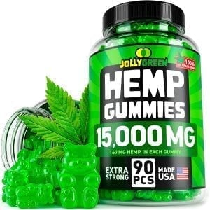 Jolly Green Hemp Gummies 15,000mg 90pcs