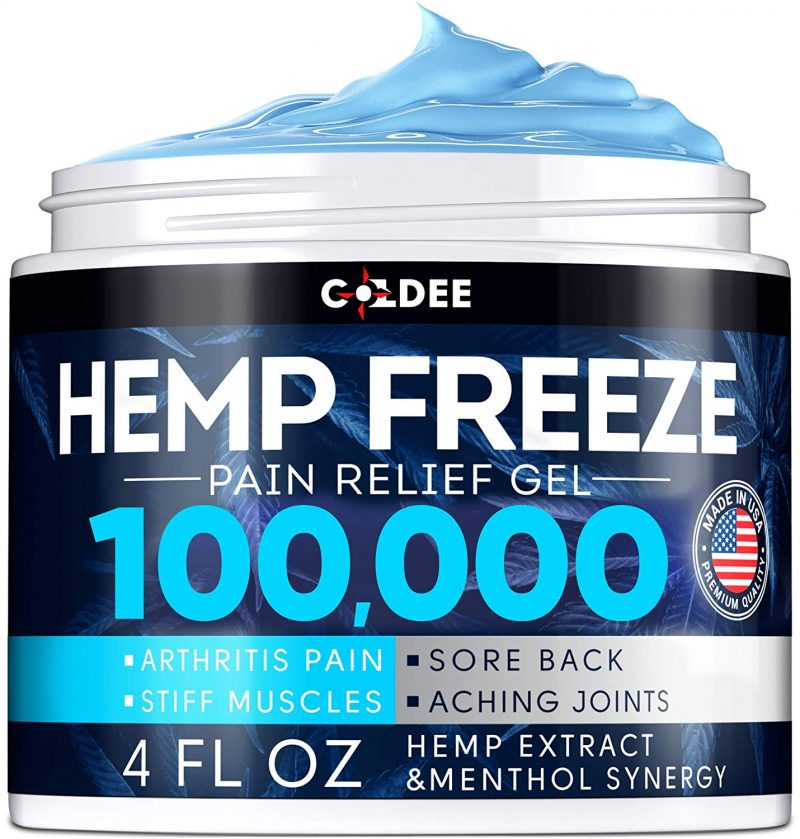 Coldee Pain Relief Hemp Oil Gel 100,000 MG 4 OZ Max Strength & Efficiency Jar