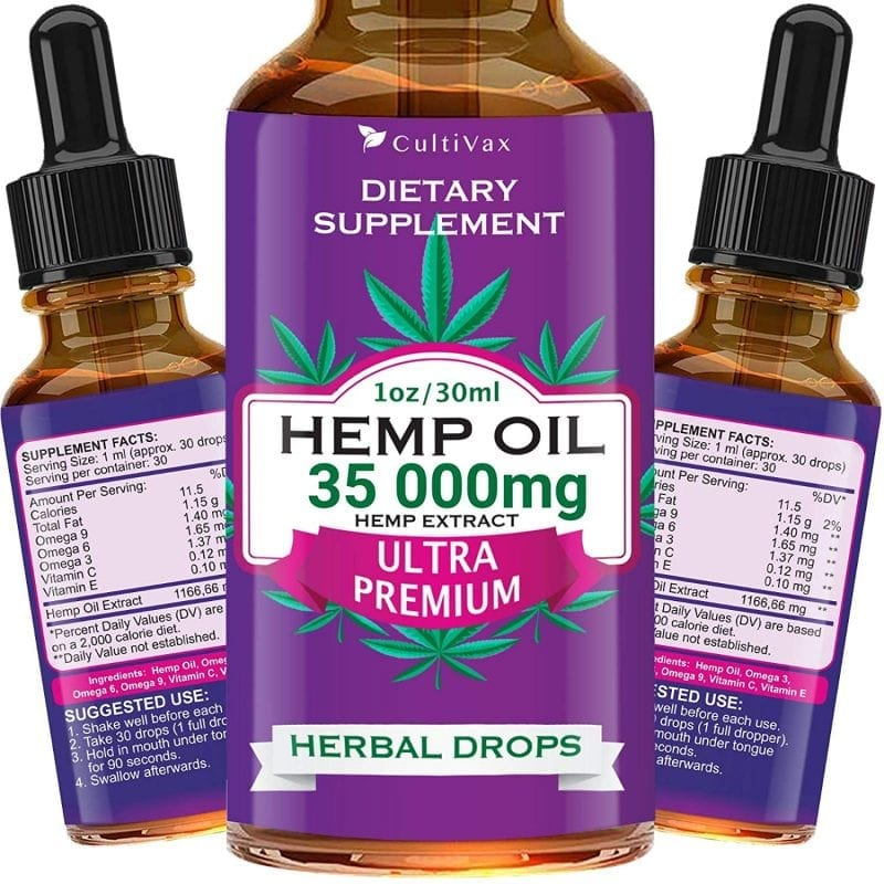 Ultra Premium Hemp Oil 35000 mg Herbal Drops 30ml Best Seller