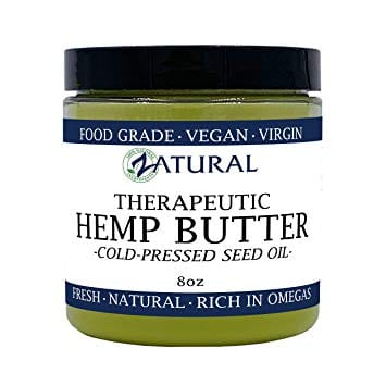 HEMP BUTTER 100% All Natural Handcrafted Food Grade Vegan 8 Ounce