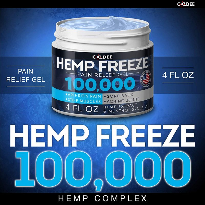 Coldee Pain Relief Hemp Oil Gel 100,000 MG 4 OZ Max Strength & Efficiency